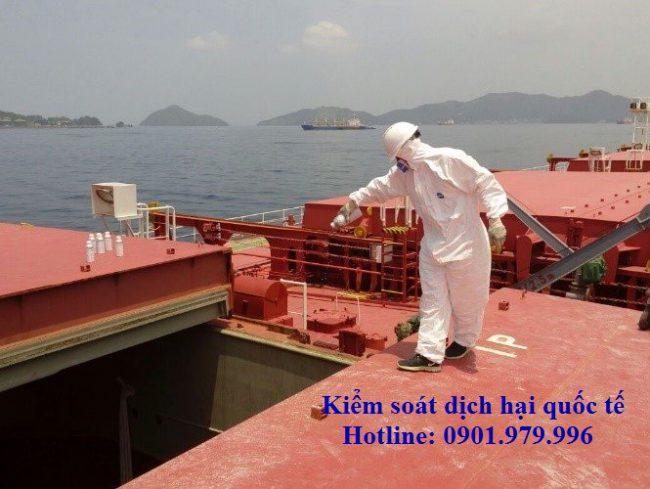 Khử trùng hàng hóa trên tàu biển