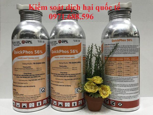 Thuốc xông mọt cho hàng hóa nông sản- Thuốc khử trùng Quickphos 56%